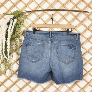 LOFT Shorts - Ann Taylor Loft Stretch Raw Hem Denim Shorts